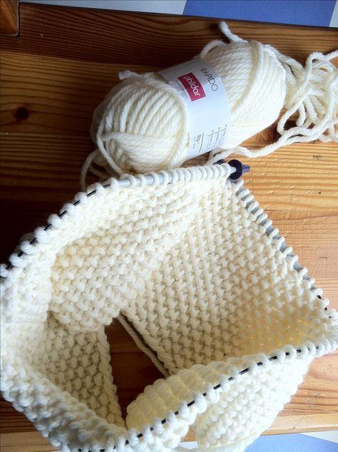 tricoter un snood aiguille circulaire Plus   Tricot   Tricot, Snood ... 0b95108f98b