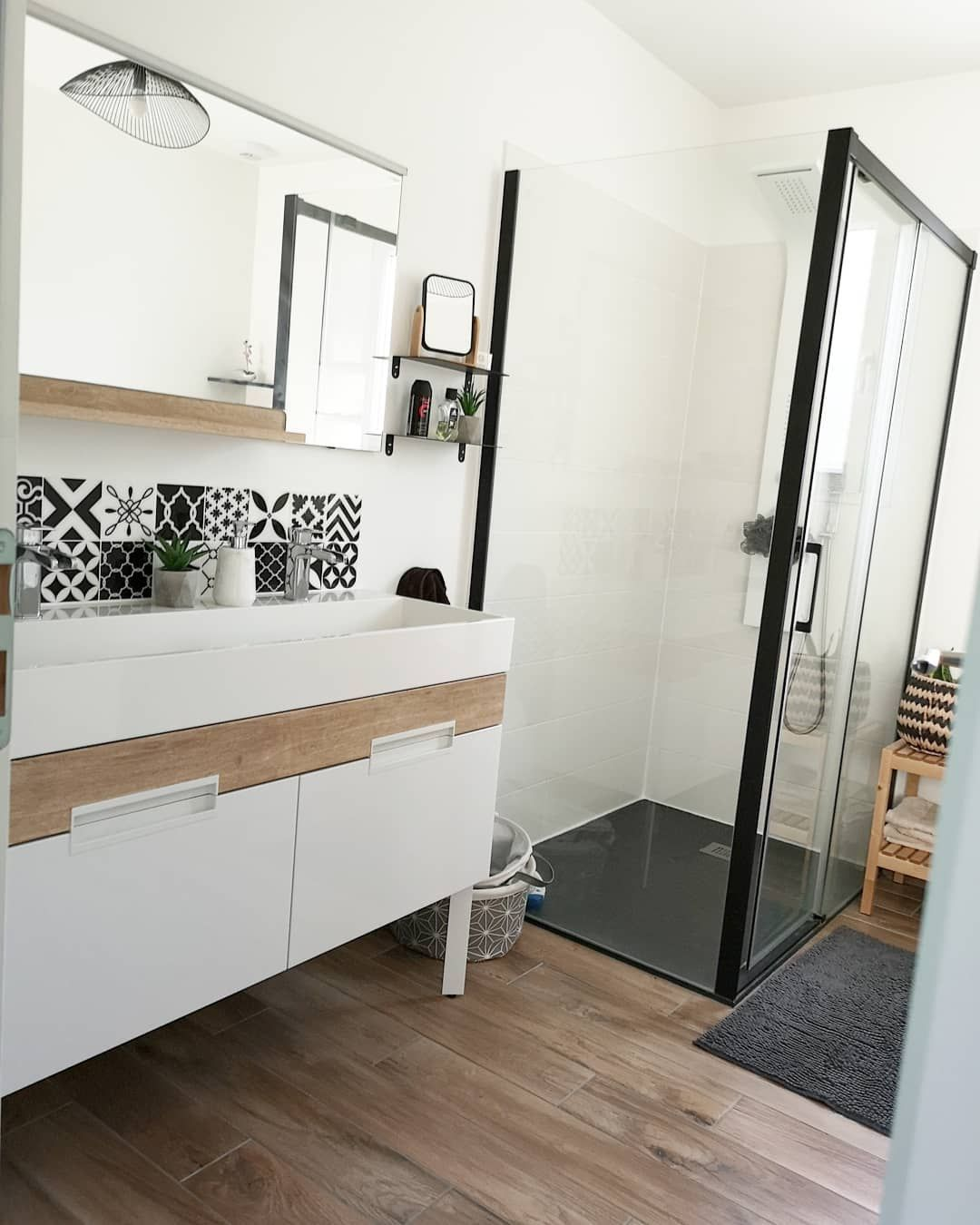 Salle de bain 🛀 . Notre salle de bain fait 8m2, il y a double ...