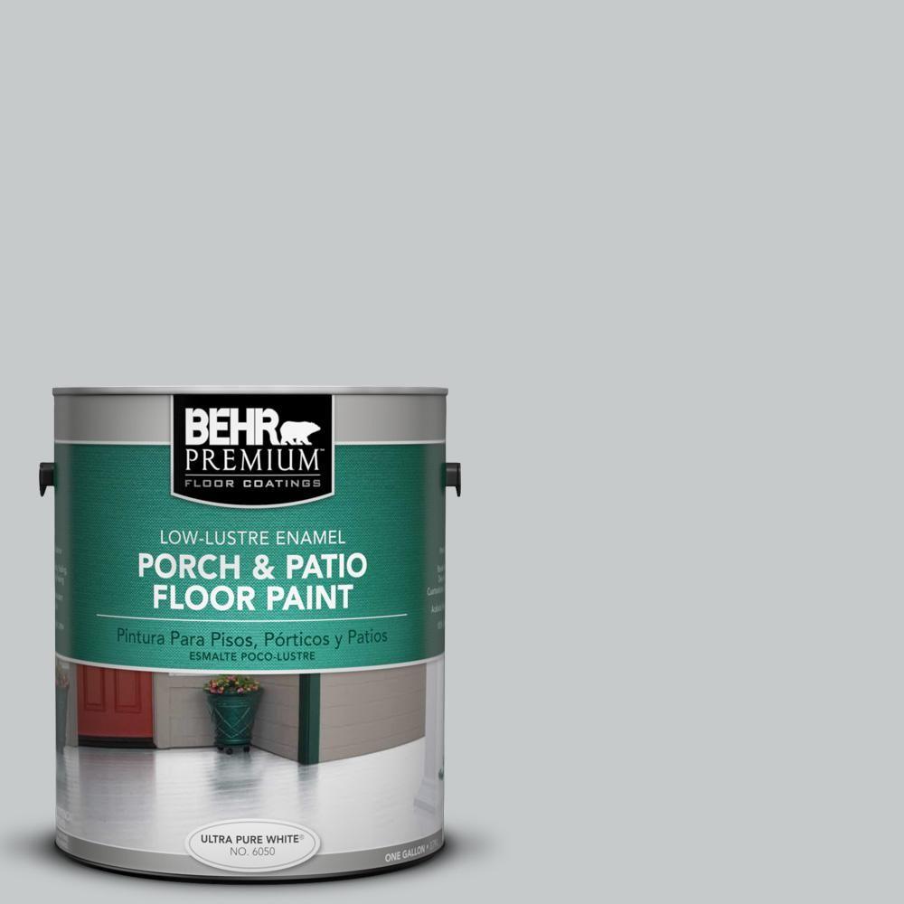 Behr Premium 1 Gal Ppu26 17 Fast As The Wind Low Lustre Enamel Interior Exterior Porch And Patio Floor Paint 605001 Patio Flooring Painted Floors Concrete Porch