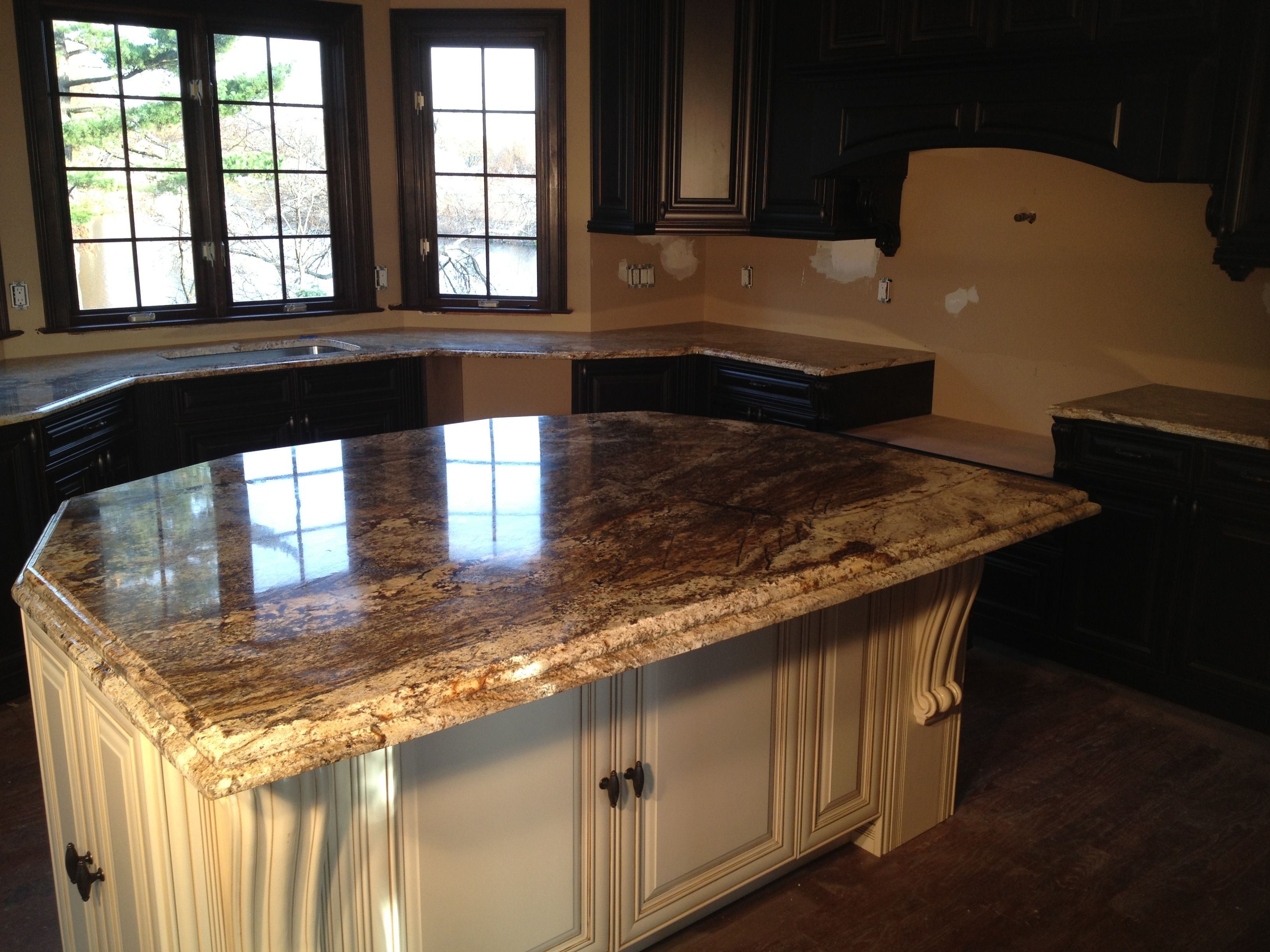 Brown Granite Counter : Aj brown granite countertop innovate stones kitchen and