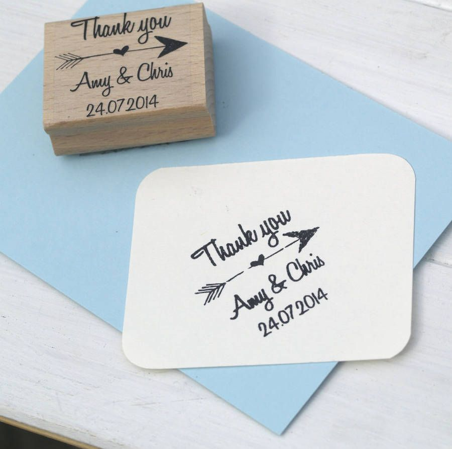 Thank You Personalised Wedding Favours Stamp