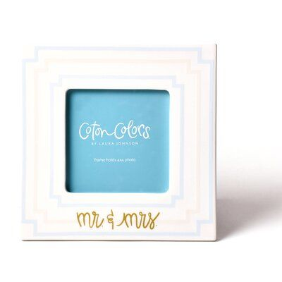 Coton Colors Notch Mr. and Mrs. Picture Frame