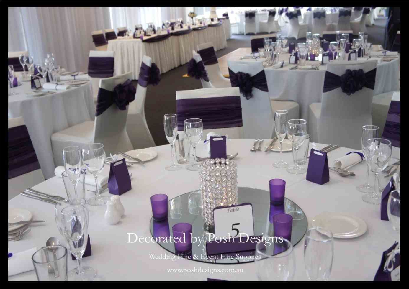 Purple Gold And White Wedding Decor Decorating Ideas Themes With A