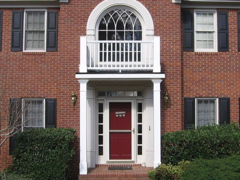 Decorating simple fascinating red door color for red - Front door colors for brick houses ...