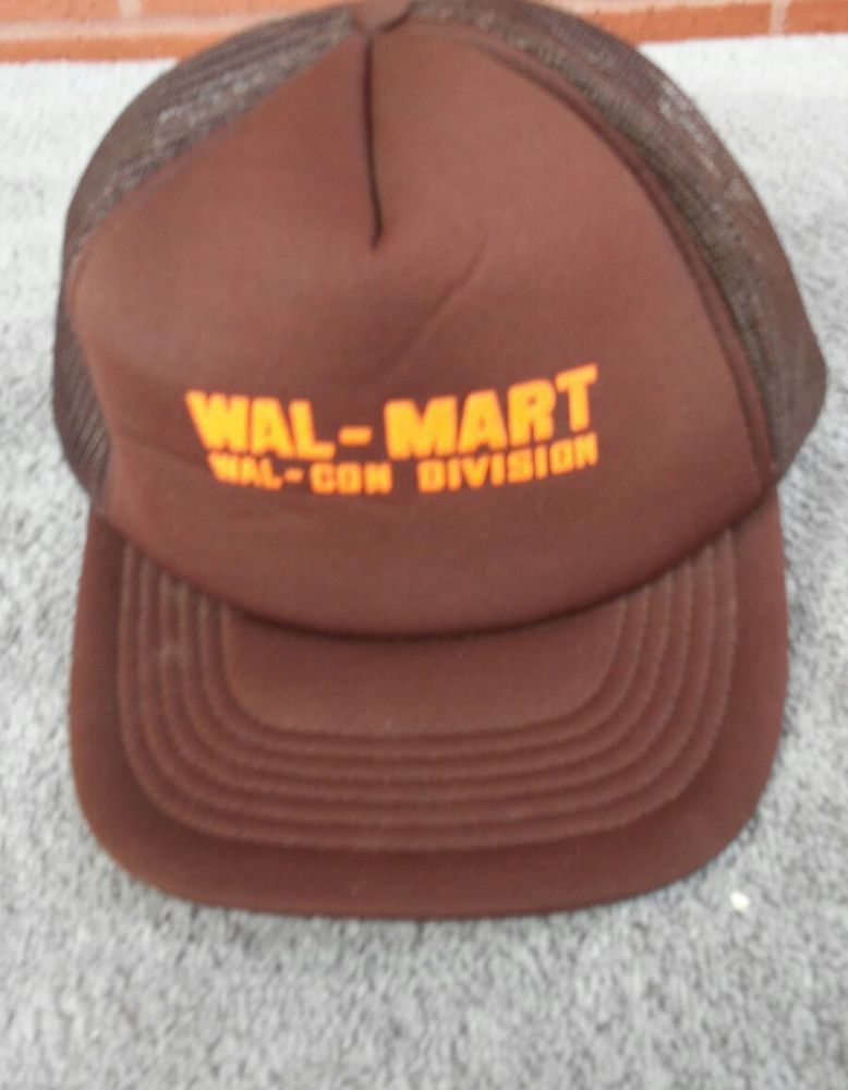 Walmart Hat Cap Texas 70s Wal Con Division Mesh Snapback Truckers Brown  Orange  TexasTops  Trucker f6f329355fe