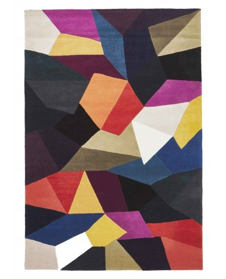 Stuttgart Abstract Stained Gl Wool Rug