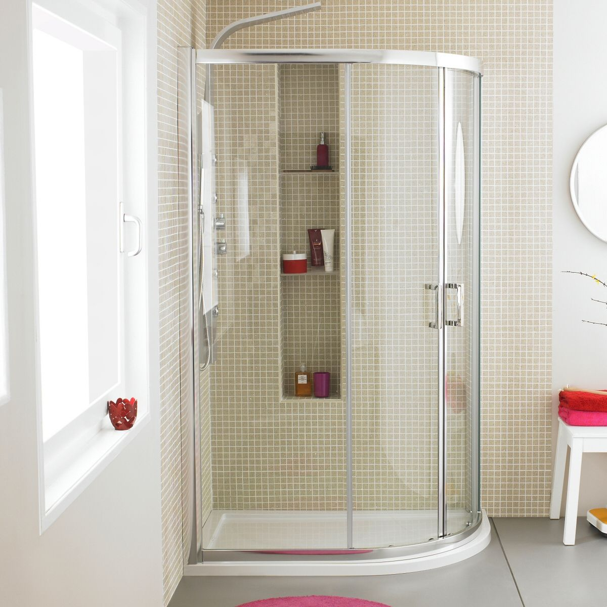 Shower cabins. Germany makes them perfectly