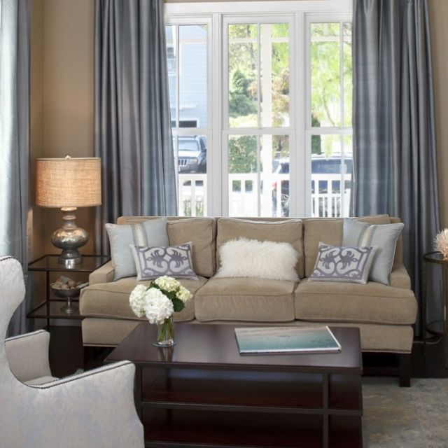 33 Beige Living Room Ideas: Like This Color Scheme Gray & Khaki Together