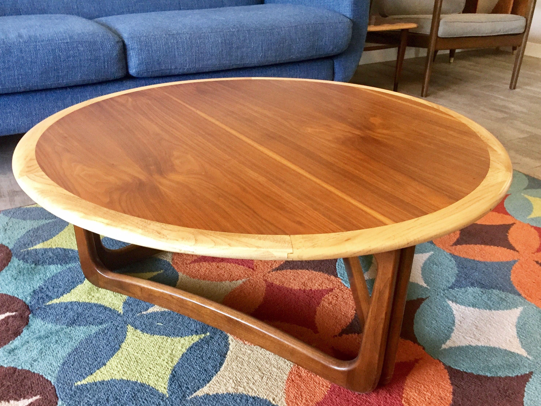 Lane Perception Round Coffee Table Mid Century Furniture Coffee Table Coffee Table Refinish [ jpg ]