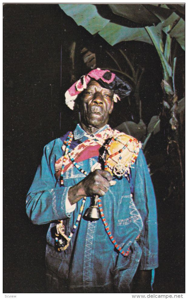 VOODOO Priest , Haiti , 50-60s   ANTILLES Postcards- SCVIEW