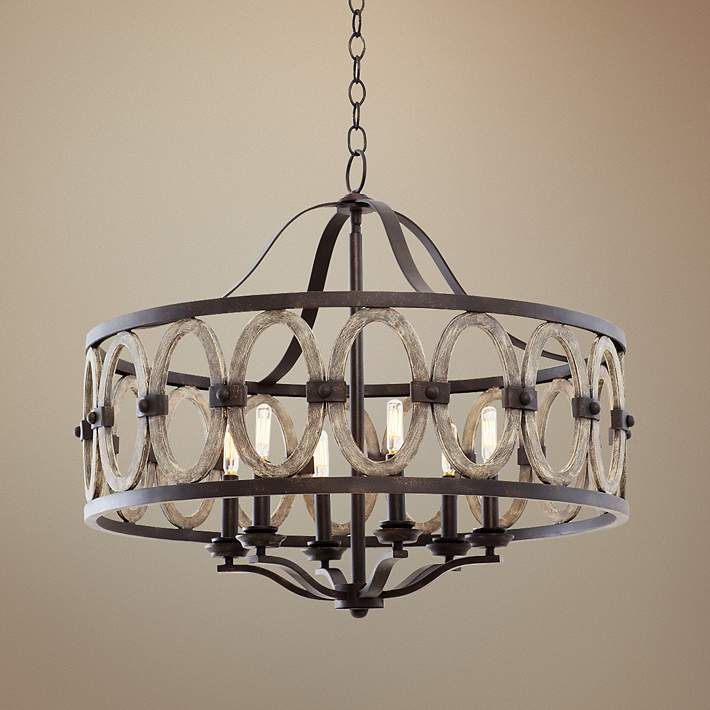 Belmont Florence Gold 28 1 2 W Wrought Iron Chandelier 7w048