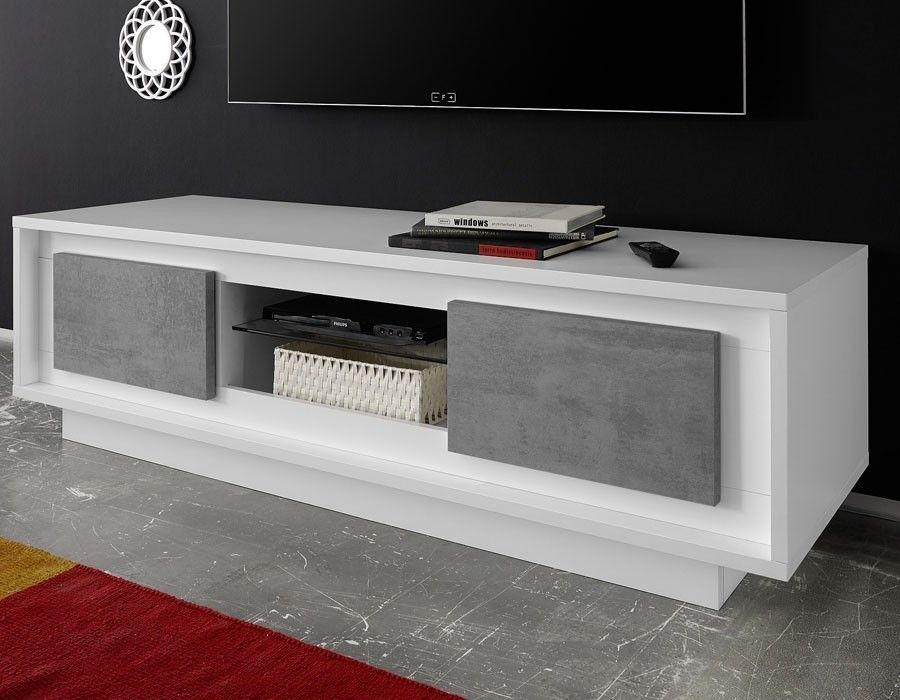 Fabrication Italienne Garantie 2 Ans Banc Tv Blanc Laque Meuble Tv Blanc Meuble Tv Blanc Laque Meuble Tv