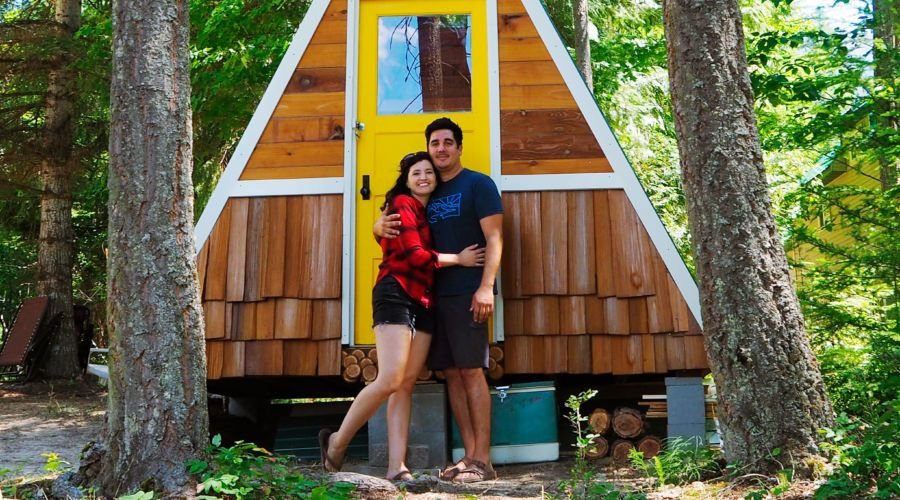 Diy Project Build Your Own A Frame For 1 700 Sunset Magazine Small House Design A Frame Cabin Diy Projects