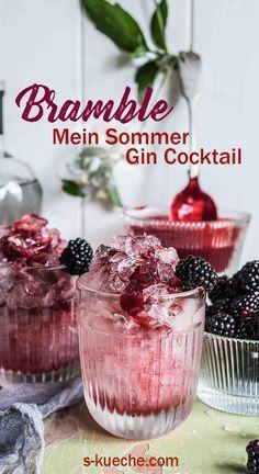 Bramble - Mein Sommer Gin Cocktail aus Brombeeren, Gin und Zitrone #cocktails