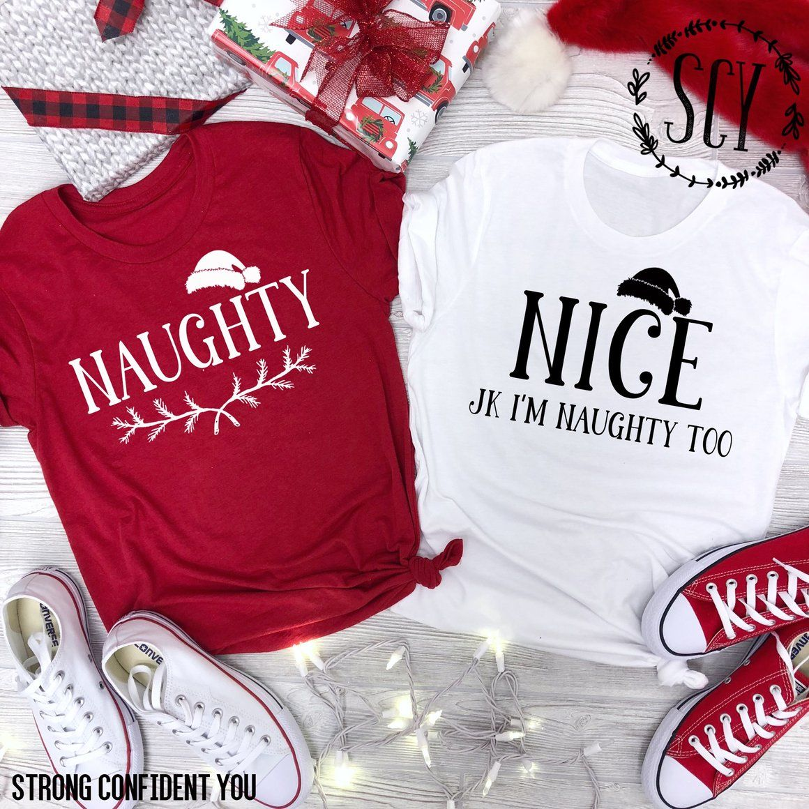 7d22093dbcb Naughty - Nice JK I m Naughty Too. Naughty or Nice. Funny Best Friend Tees. Funny  Bff Christmas Shirt. Christmas Gift Ideas. Best Friend Gift.