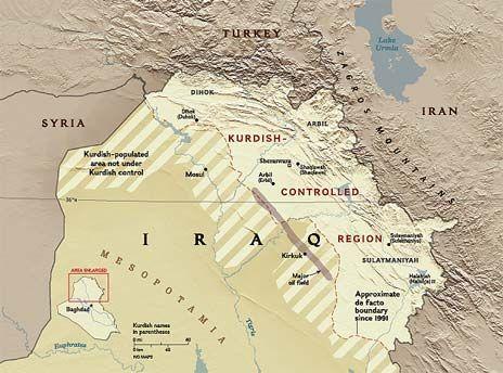 kurds in iraq iraqi kurds map