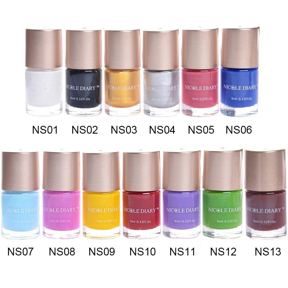 Nicole Diary 13pcsset Nail Polish Stamping Nail Art Polish Multi
