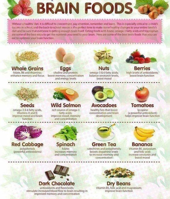 Memory foods brain health