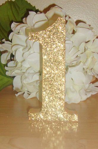 Details about self standing glitter table numbers wedding for Glitter numbers for centerpieces