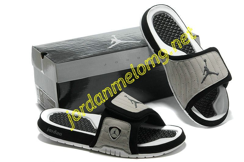 san francisco 537ba c305a Jordan Hydro 14 Premier Slides Sandals Cool Grey Black White ...