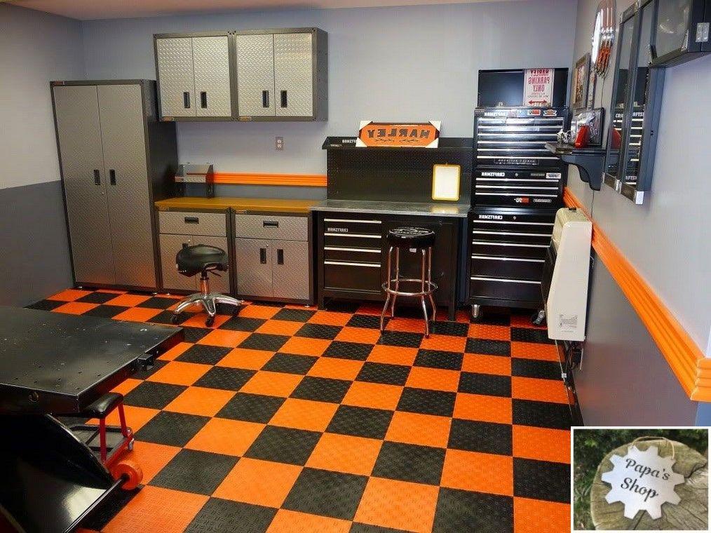 Tool Room With Garage Shelving And Overhead Storage Garageshop Organizeworkshop Workshopideas Design Interior