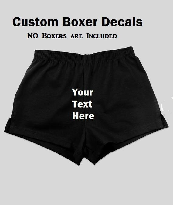 30fb0997494df DIY Naughty Mens Underwear - Boxer Decal - Funny Boxers for Men - Sexy Anniversary  Gift Boyfriend Gi