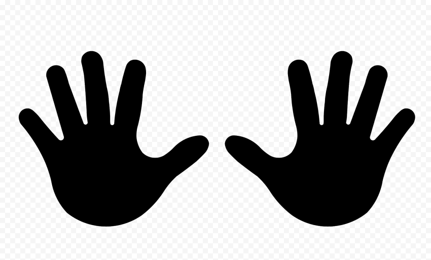 Hd Black Baby Two Hand Print Vector Silhouette Png Silhouette Png Black Babies Print