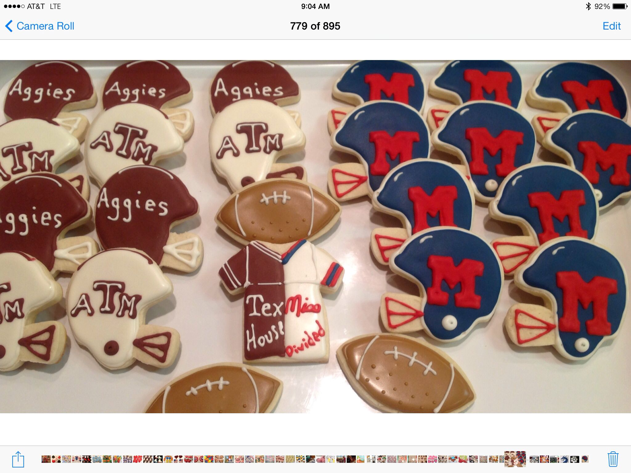 Texas A&M vs Ole Miss House Divided Decorated Sugar Cookies by I Am The
