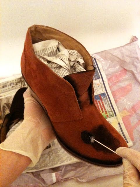 von mri: how to dye suede leather shoes tutorial. Refashion: Wildlederschuhe umfärben