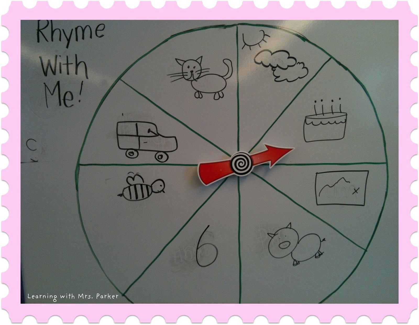Rhyming Words Using Magnetic Spinners