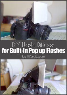 DIY difusor de flash incorporado Pup hasta Flashes #Tutorial #flashdiffuser # photography101