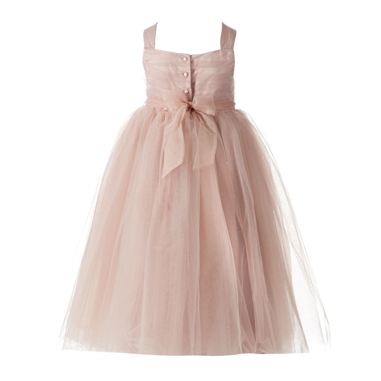 RJR.John Rocha Designer girl\'s pink mesh corsage dress- at Debenhams ...