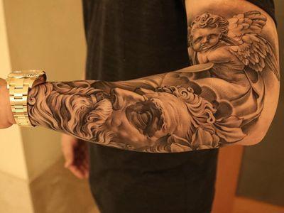 Engel mann unterarm tattoo 50 einzigartige