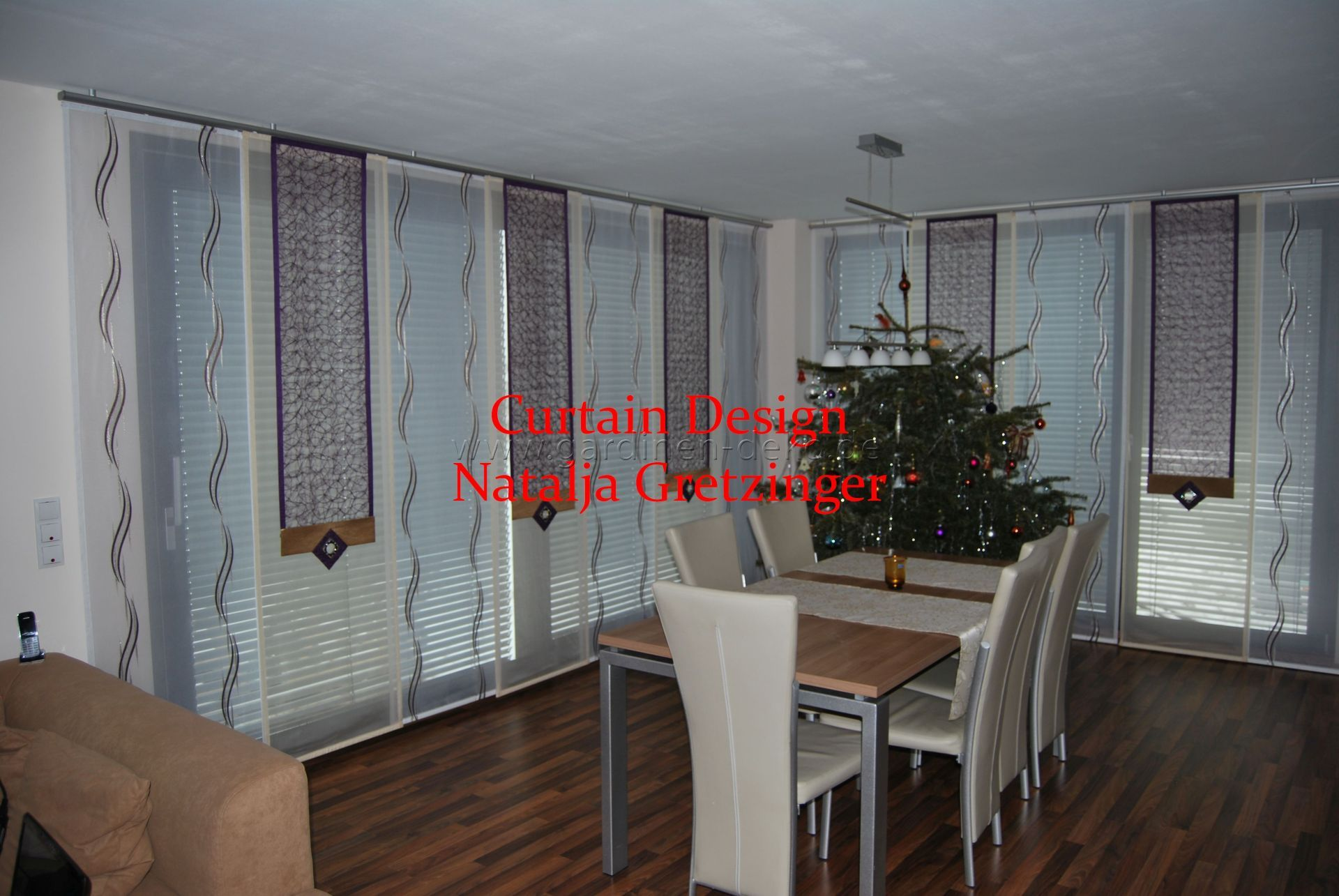 Eck-Gardine fürs Wohnzimmer mit formschönen Dekonetzen - http ...