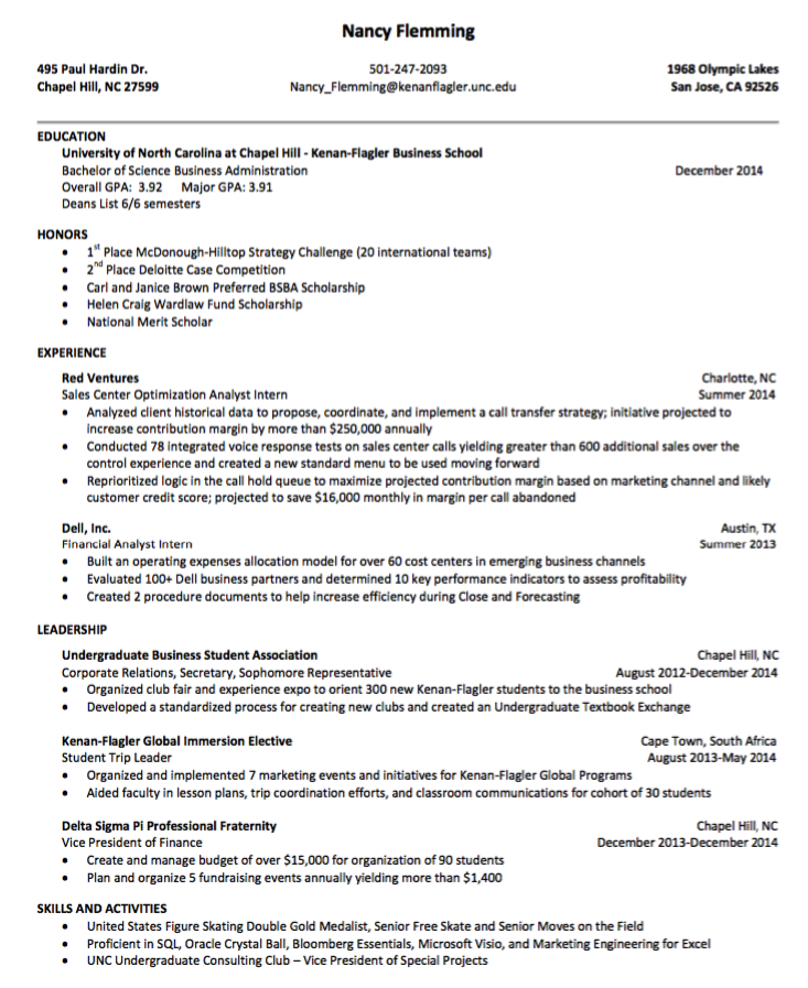 It Sample Resume Sample Resume For Sales Center Optimizations  Http