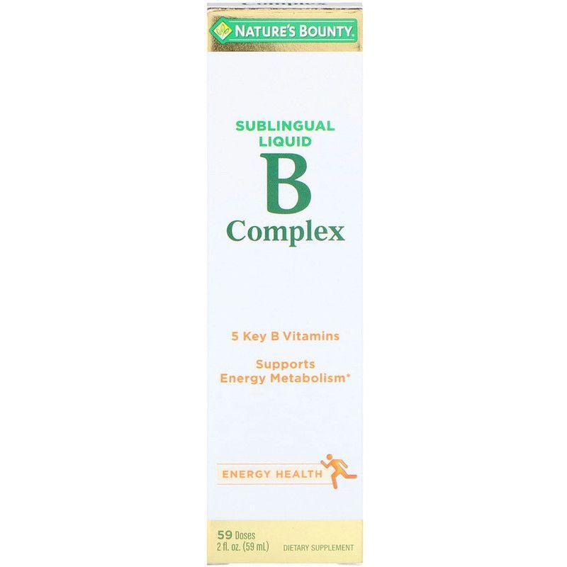 Nature S Bounty فيتامين ب المركب سائل تحت اللسان 2 أونصة 59 مل B Complex Nature S Bounty Nutritional Supplements