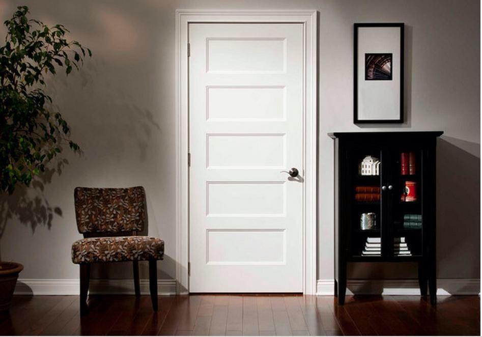 5 Panel Flat Panel Shaker Style Interior Door Interior Door Styles Doors Interior Contemporary Interior Doors