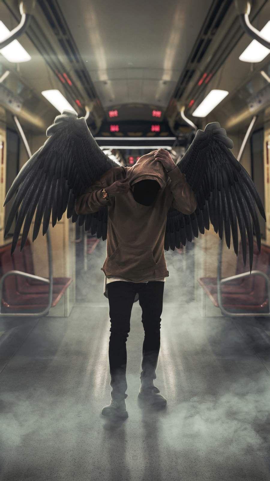 Hoodie Angel Iphone Wallpaper Joker Iphone Wallpaper Glitch Wallpaper Hipster Wallpaper Hd wallpaper black hoodie angel boy
