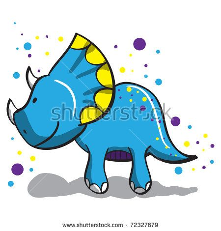 Cute dinosaur - everything grouped for easy use