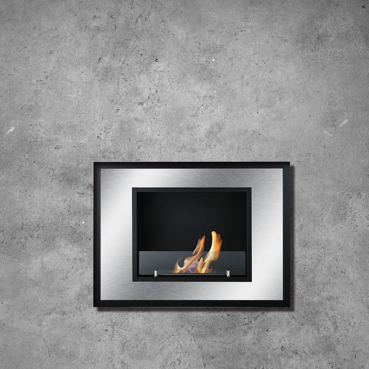 Bellezza Mini Recessed Ventless Wall Mount Ethanol Fireplace