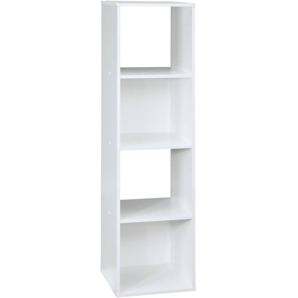 White furniture storage shelves cube organizer drawers for bedroom