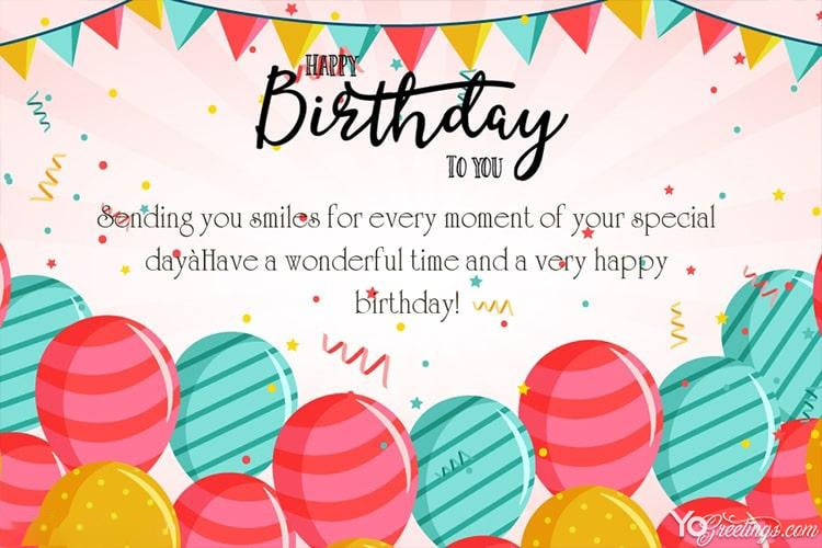 Happy Birthday Wishes Card For Friends Free Download Happy Birthday Wishes Cards Free Happy Birthday Cards Happy Birthday Greeting Card