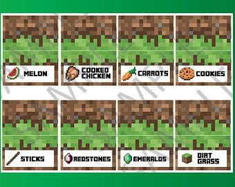 image regarding Free Printable Minecraft Food Tents named Graphic end result for Absolutely free Printable Minecraft Foodstuff Tent Labels
