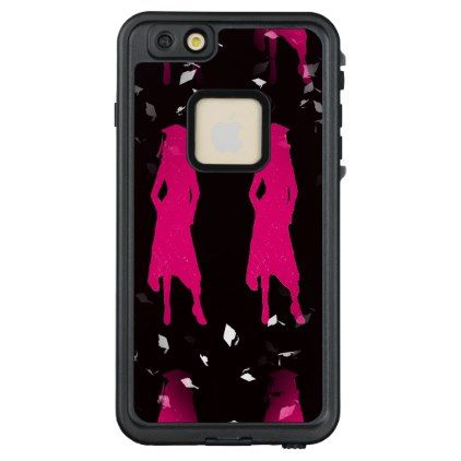 4 Hot Pink Grad Girl Silhouettes LifeProof FRĒ iPhone 6/6s Plus Case ...