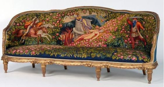 canap 1921 les contes de f es jean veber et paul follot tapestry french style and. Black Bedroom Furniture Sets. Home Design Ideas