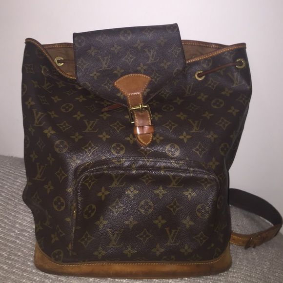 Authentic Vintage Louis Vuitton Monogram Backpack Vintage Gently Used Pre Owned Louis Vuitton Backpack Louis Vuitton Bags Backpacks My Posh Picks Monogra