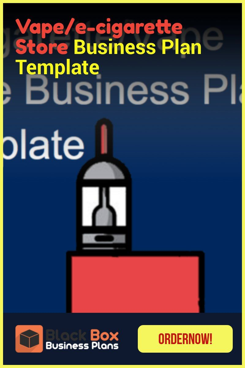 VPE Store Business Plan Template Business plan template
