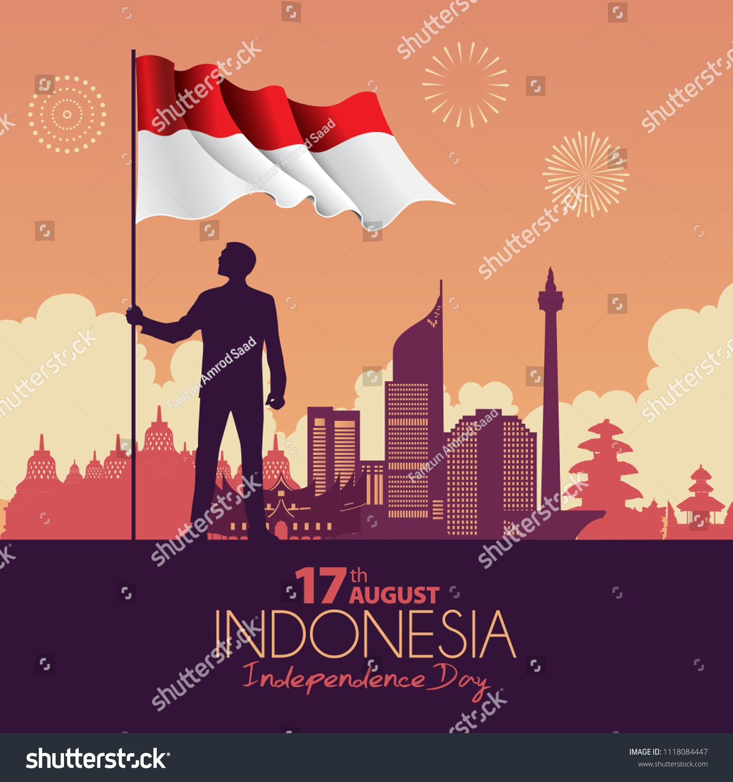 Vector illustration of a Indonesia Independence Day