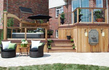 Multi Level Deck Design Ideas Pictures Remodel And Decor Deck Designs Backyard Hot Tub Deck Deck Design