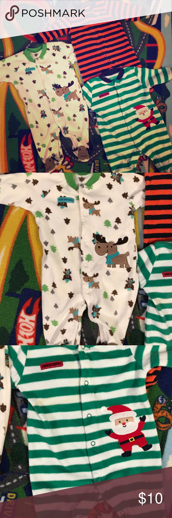 0 3 Month Baby Boy Pajamas Euc Baby Boy 0 3 Month Sleepers Made By Carter S Three Pairs Of Warm Pajamas Baby Boy Pajamas Baby Month By Month Baby Boy Outfits